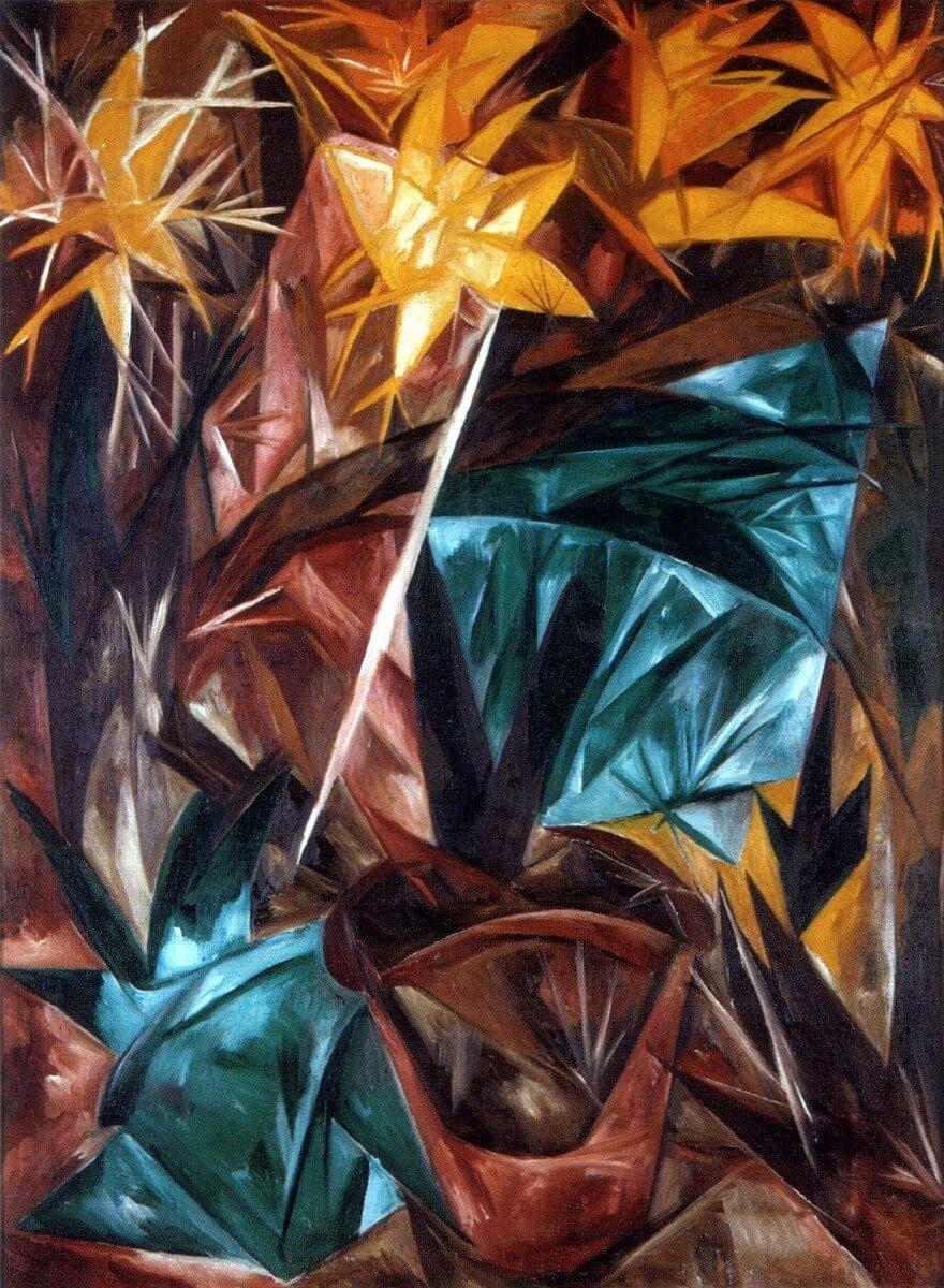 Lilas rayonistas, 1913 - Natalia Goncharova - Rayonismo