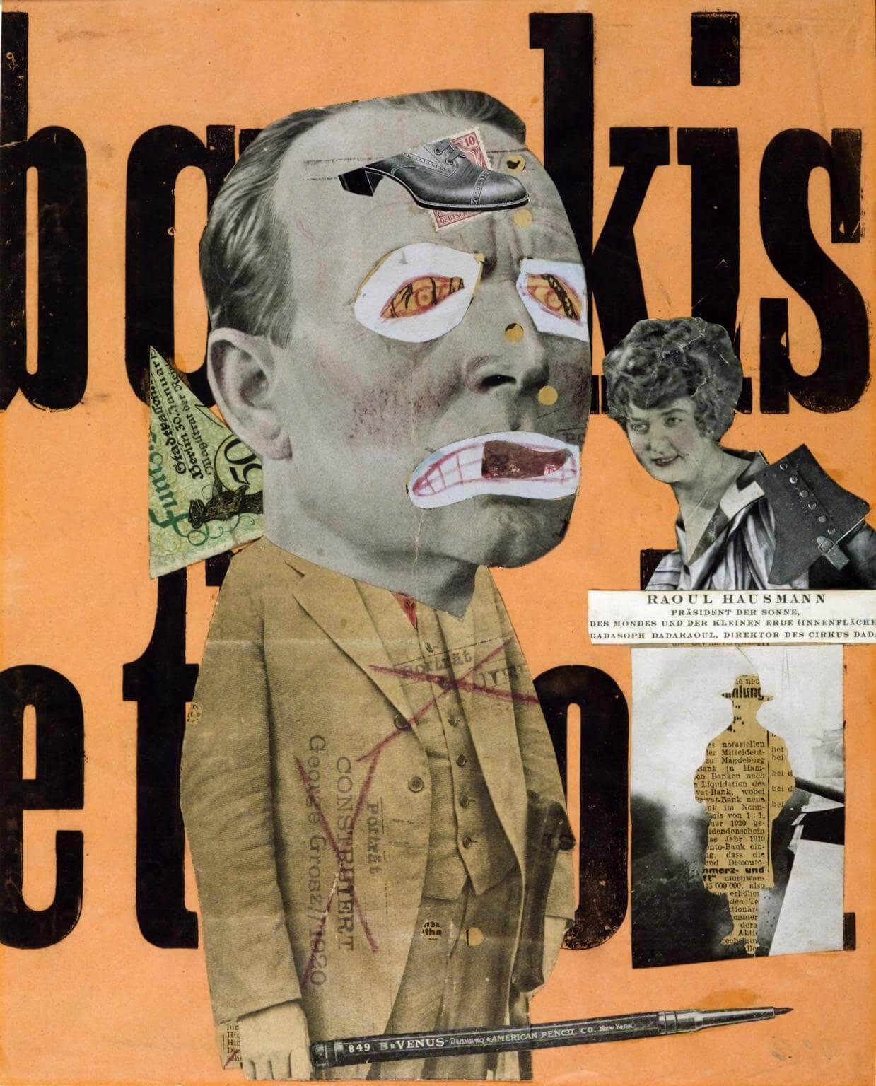 El crítico de arte 1919-20 - Raoul Hausmann 1886-1971 - Dadaismo